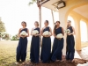 Bridesmaids with All Hydrangea Bouquets Plus Maid of Honor Bouquet with Extra Blue Thistle