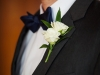 Double Spray Rose Boutonniere for Groom