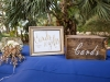 Gift Card Table with Gold Terrarium with Foliage and Fairy Lights