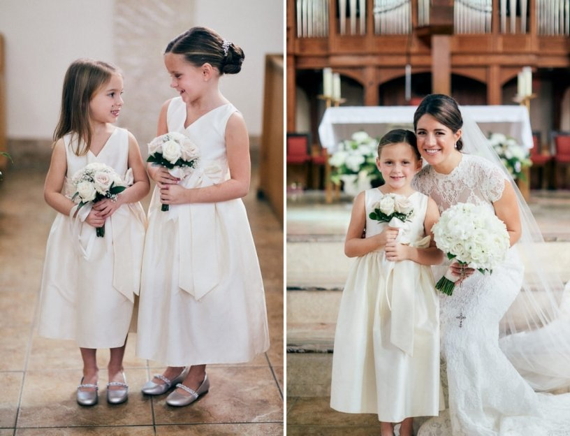 Flower Girls with Downsized Bouquets