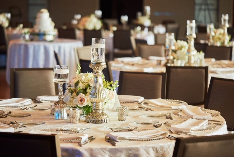 Guest Table with Centerpieces