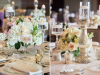 Table Centerpiece in Blush and Cream Tones