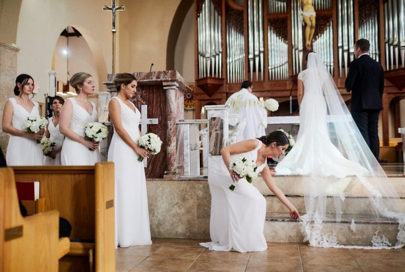 Wedding Ceremony at St. Martha's Church
