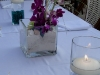 Wedding centerpiece in teal and green