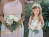 Bridesmaid's Bouquet and Flower Girl Bouquet