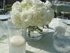 All white wedding centerpiece