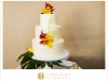 Wedding Cake with Fresh Tropical Orchids