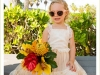 Flower girl with Tropical Bouquet to Match Mom
