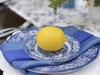 Lemon on Wedding Table Setting on Feasting Table