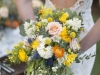 Bride with Vintage with Modern Twist Bridal Bouquet of Fresh Spring Flowers