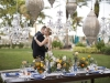 Bride and Groom with Feasting Table