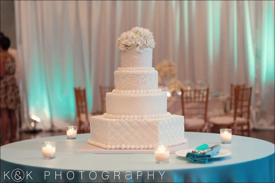 wedding cake-with-hydrangea