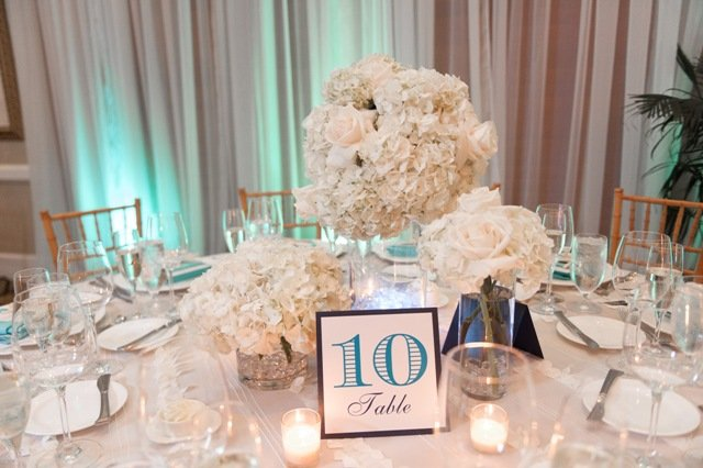 All white wedding centerpieces