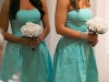 bridesmaids in Tiffany blue