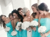 bridal party all in white and tiffany