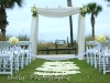 Bamboo Canopy with white flowers at Ritz Carlton Beach Club