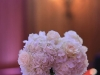 Dazzling hydrangea and rose centerpiece with a band of bling