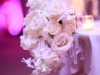 Slight cascade bouquet used on reception table
