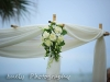 Elegant white floral clusters on canopy