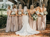 Bride and Bridesmaids with All White Bouquet