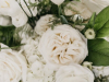 All White Flowers in Urn Arrangement