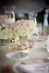 candles and floral centerpiece-garden like