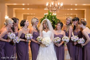 Gorgeous Wedding Party in Lavendar and Pinks